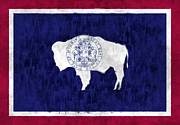 Wyoming Digital Art Framed Prints - Wyoming Flag Framed Print by World Art Prints And Designs
