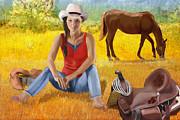 Wyoming Girl Print by Sydne Archambault