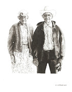Ranching Drawings - Wyoming Gothic by Paul Shafranski