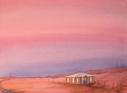 Wyoming Paintings - Wyoming Homestead by Scott Kirby
