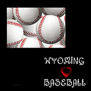 Wyoming Digital Art - Wyoming Loves Baseball by Andee Photography