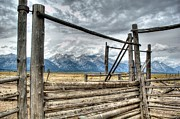 Ranch Prints - Wyoming Ranch Gate Print by David Burks