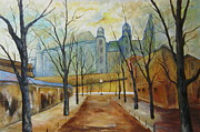 Krakow Originals - Wyspianskis Wawel in the Morning by Halina Plewak