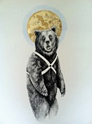 Icon  Drawings Originals - X Bear by Alexander M Petersen