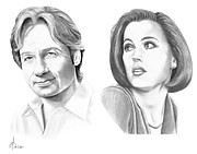 Pencil Drawing Drawings - X-Files  by Murphy Elliott