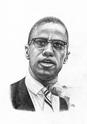 Malcom X Framed Prints - X Framed Print by Jonathan Brown