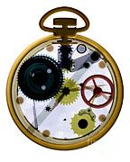 X-ray Of A Pocket Watch Print by Bert Myers