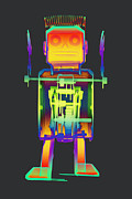 Giant Robot Posters - X-ray Robot with Spring No.1 Poster by Roy Livingston