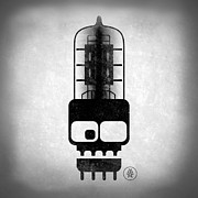 Alternative Rock Art - X-ray Tubeskull by Milton Thompson