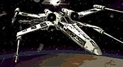 Death Star Metal Prints - X Wing Metal Print by George Pedro