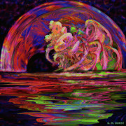 Sea Digital Art Originals - Xanadu Portal by Michael Durst