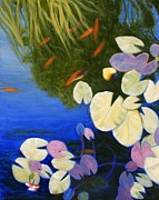 Lilly Pond Paintings - Xaviers Pond by Doug Key