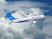 Airlines Digital Art - Xiamen Airlines Boeing 737 800 by Nop Briex