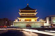 Travel China Posters - XiAn Bell tower China Poster by Fototrav Print