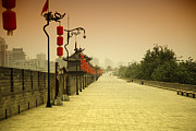 Travel China Posters - XiAn City Wall China Poster by Fototrav Print