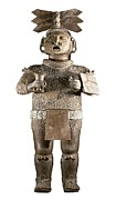 Spanish Art Sculpture Posters - Xipe Totec. 500-650. Clay Sculpture Poster by Everett