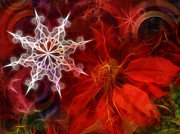 Xmas Digital Art Metal Prints - Xmas Stars Metal Print by Lutz Baar