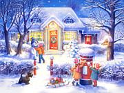 Winter Night Prints - Xmas Print by Zorina Baldescu