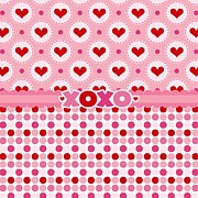 Pink Ribbon Prints - Xoxo Print by Debra  Miller