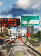 Nyc Mixed Media - Xpect Delays by Russell Pierce