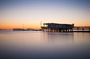 Wollaston Prints - Yacht club at sunrise Print by Lee Costa