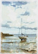 Stephen Cordory - Yacht on sandy beach