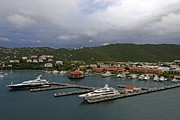 Saint Christopher Photo Prints - Yachts And St Thomas Print by Willie Harper