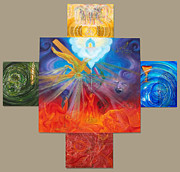 Abstract Fountain Originals - Yahweh El Shaddai by Anne Cameron Cutri