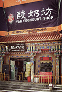 Grocery Store Posters - Yak Yoghourt Shop Poster by Joan Carroll