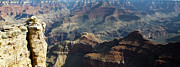 Grand Canyon Framed Prints - Yaki Point Grand Canyon Framed Print by Gilbert Artiaga