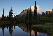 Cascade Mountains Prints - Yakima Peak Reflections Print by Mike  Dawson