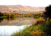 Yakima Valley Framed Prints - Yakima River Autumn Framed Print by Carol Groenen