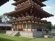 Shoji Prints - Yakushi-ji Temple West Pagoda - Nara Japan Print by Daniel Hagerman