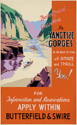 Shipping Digital Art Posters - Yangtze Gorges China Poster by Nomad Art And  Design
