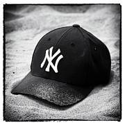 Baseball Cap Framed Prints - Yankee Cap Framed Print by John Rizzuto