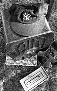Baseball Cap Art - Yankee Cap by Ron Regalado