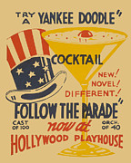 Ww11 Painting Framed Prints - Yankee Doodle Cocktail Framed Print by American Classic Art