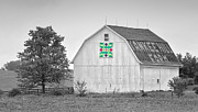 Quilt Photo Posters - Yankee Hill Farm Quilt Barn Poster by Brian Mollenkopf