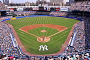 Major League Baseball Framed Prints - Yankee Stadium Framed Print by Allen Beatty
