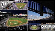 Pasttime Prints - Yankee Stadium Collage Print by Allen Beatty