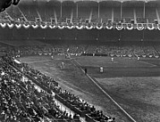 Baseball Stadiums Framed Prints - Yankee Stadium Game Framed Print by Underwood Archives