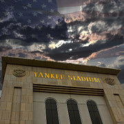 Stadium Design Digital Art Prints - Yankee Stadium NY Print by Chris Thomas