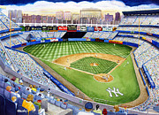 Yankee Paintings - Yankee Stadium - The House That Ruth Built by Mary Irwin