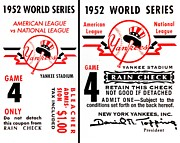 Mickey Mantle World Series Framed Prints - Yankees 4th Straight - Modern Framed Print by Benjamin Yeager