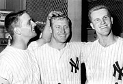 Mickey Mantle Photos - Yankees Celebrate Victory by Underwood Archives