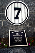 Mickey Mantle Photos - Yankees No.7 Monument Park by Gary Slawsky