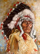 Comanche Paintings - Yanktonais Vested Interests by Amanda  Stewart