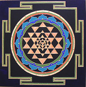 Sri Yantra Paintings - Yantra by Embody Divinity