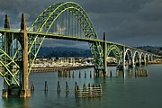 Bay Bridge Photos - Yaquina Bay Bridge by Adam Jewell