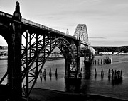 Road Trip Framed Prints - Yaquina Bay Bridge Framed Print by Benjamin Yeager